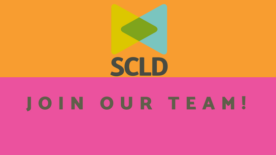 orange and pink graphic with words: 'join our team'