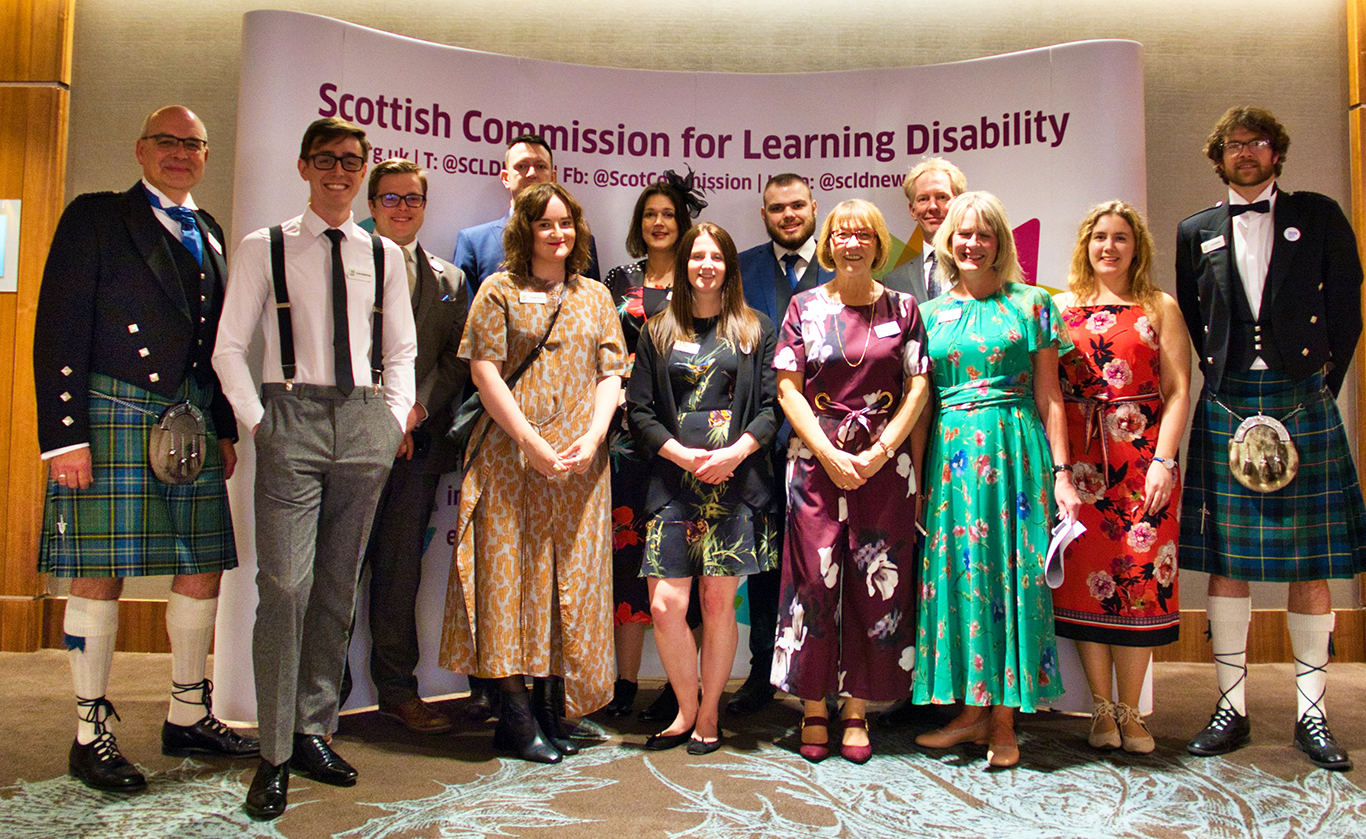 A photo of the SCLD team at the Learning Disability Awards 2019