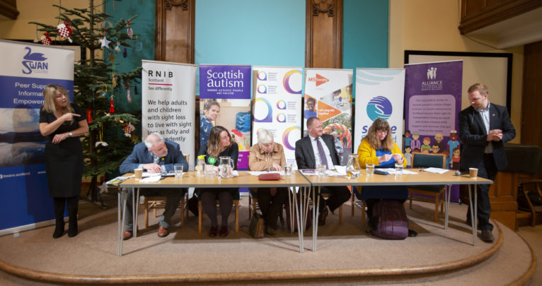 The panel at the Disability Hustings event