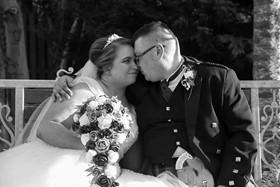 David and Ashleyann on their wedding day