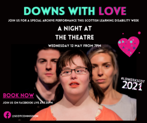 Downs with Love flyer. Image of the cast.